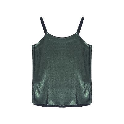 spangle sleeveless top green