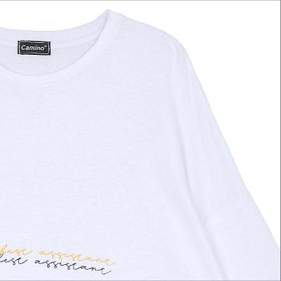 lettering drop shoulder t-shirt white