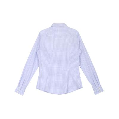 slim line check pattern shirt