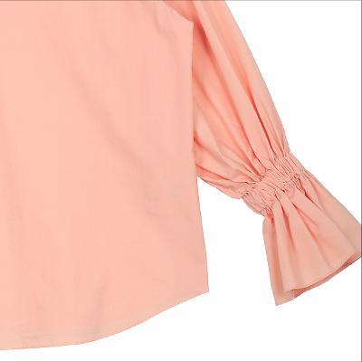 shirring detail blouse pink