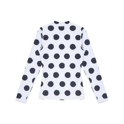 dot pattern rash guard white