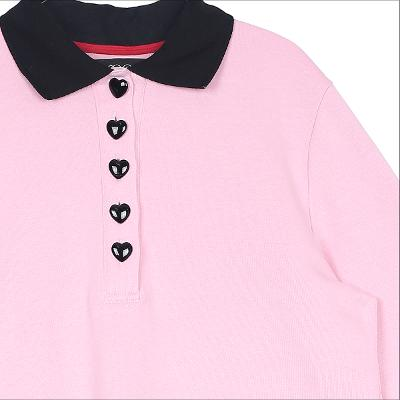 heart button shirring detail t-shirt