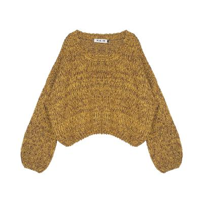 loose fit balloon sleeve knit