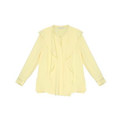 ruffle detail blouse yellow