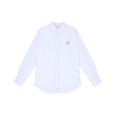 dot pattern shirt white