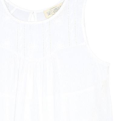 lace yoke detail t-shirt white 1