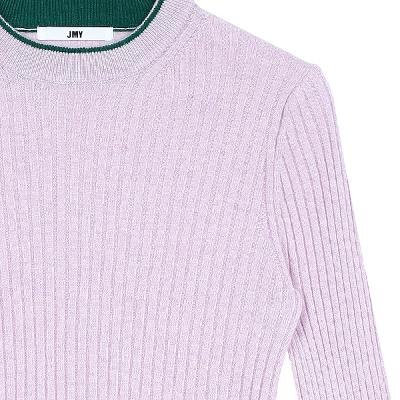 color point knit top pink