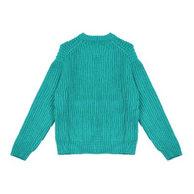 rib texture sweater blue