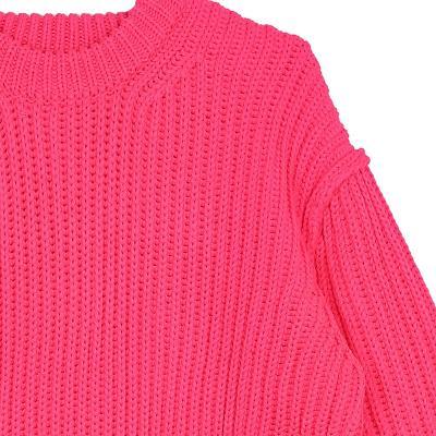 rib texture sweater pink