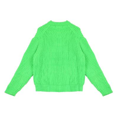 rib texture sweater green