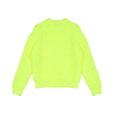 rib texture sweater yellow
