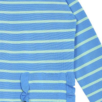 frill detail stripe t-shirt