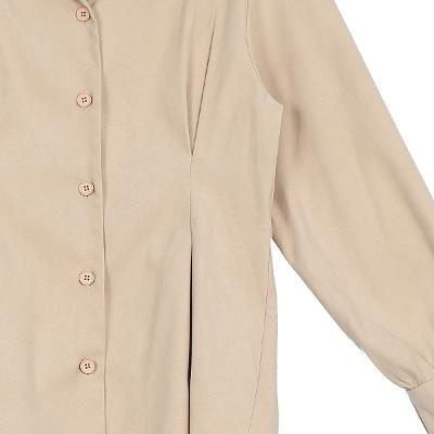 pin-tuck detail blouse beige